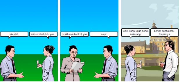 Peran PMO dalam Pengobatan TB - Komik dibuat dengan menggunakan bantuan Witty Comics