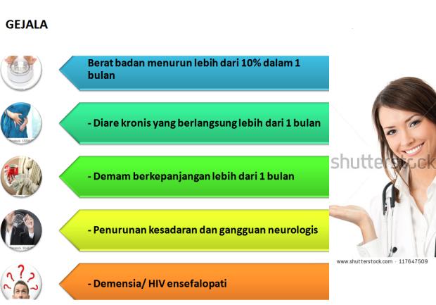 GEJALA HIV MAYOR
