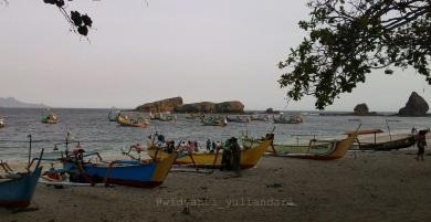 Perahu Nelayan Di Papuma