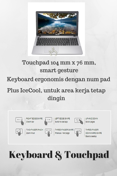 ASUS X550ZE Taouchpad Keyboard