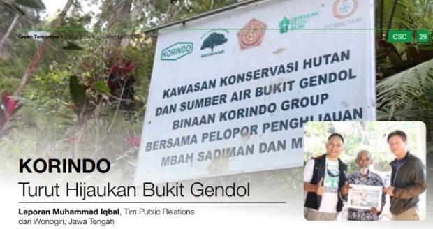 Bantuan Bibit pohon untuk penghijauan (Sumber gambar dari Korindo)